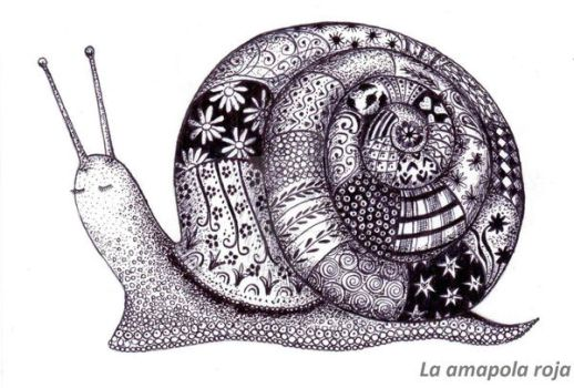 Happy snail by La-amapola-roja