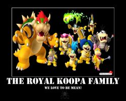 Koopa Family Motivator by LadyHexaKnight