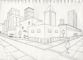Two point perspective exterior by timluv