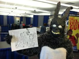 A Donnie Darko Moment - Frank meets Winston by KneonT