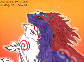 Amaterasu and Oki by Saissu