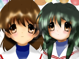 nagisa and fuko by cchrris