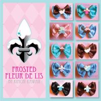 Sweet Lolita Hair Bows by FrostedFleurdeLis