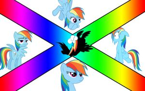 Rainbow Dash (wallpaper number 4) by axelrules1231