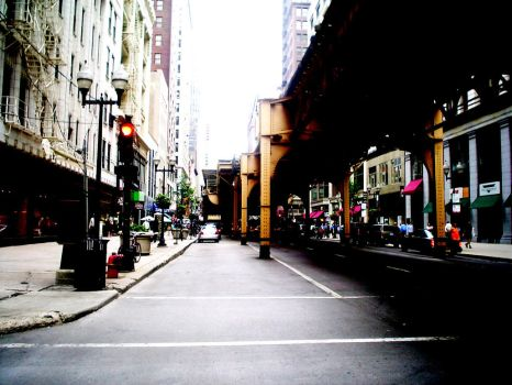 A street of Chicago by Goldencard
