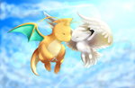 Dragonite + Togekiss by Togechu