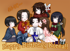 +Happy Birthday Korea+ by BlackLadySango