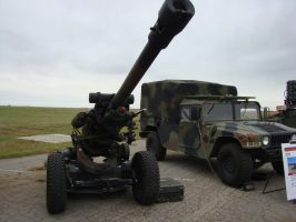 US Army 105 airborne gun by Flyboy008