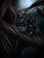 Commission- Raven Dragon by Cryophase