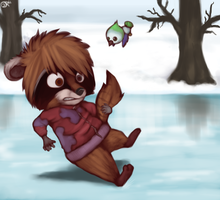 Slipping on ice by FancyPancakes