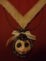 Cute Dollface necklace by Neffereth
