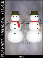Snowman 001 by poserfan-stock