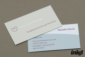 Senior Care Business Card by inkddesign