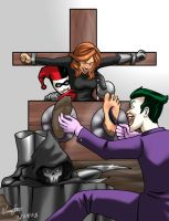 Joker tortures the Phantasm by Bad-Pierrot