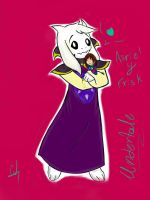 Asriel And Frisk (undertale) by lady-heart235