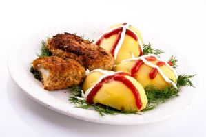 Potatoes with cutlets by akadime