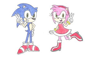 Sonic and Amy 2013 by PhantomShadow051