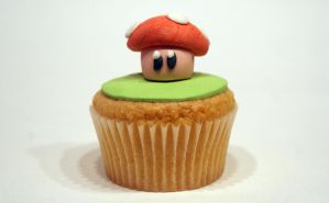 Toad cupcake by VPofFantasyland