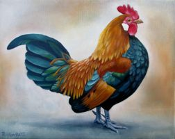 Bantam Rooster by TernFeather