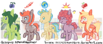 Summer Pony Adopts (secretmonsters base) by SpatialHeather
