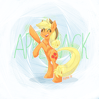 Applejack by Xieril