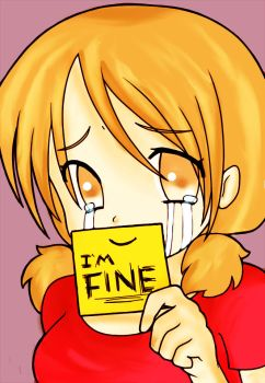 I'M FINE- Line Art Coloring by ToxiLolli