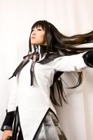 Homura Akemi - Hair Flick by BertLePhoto