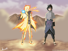 Naruto and Sasuke full power by Melonciutus