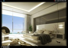 beach view bedroom by aboushady81