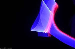 Purple/Red Light Painting Trial by M-L-Griffith
