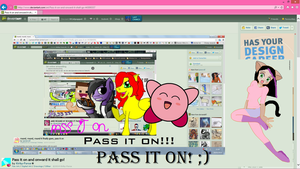 Pass this image meme round and round! by DCatpuppet