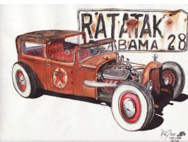 Ford Model A Rat Rod by FastLaneIllustration