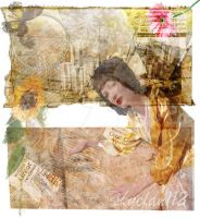 Yellow Sunflower Collage by AeliaNaqwiDesigns