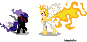 Dark form Solar Blaze and Starlight by Vector-Brony