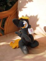 Sitting Derpy filly plush with envelope FINISHED by CaveLupa