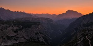 Dolomiti twilight by matthieu-parmentier