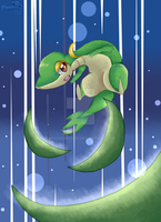 Snivy by MagnumHaze