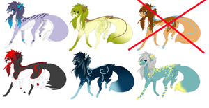 WOLF ADOPTABLES CLOSED by wolfcat-adoptables
