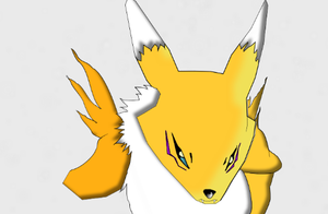 Renamon [Drawing] by elizagame