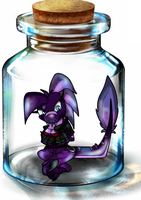Raptor in a bottle by RaptorOFire
