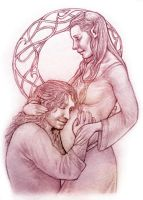 Kili and Tauriel - The Greatest Gift by IngvildSchageArt