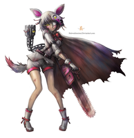 Mangle with Chainsaw + Speedpaint by BelovedMeimei