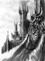 Sauron sketch by Spin-chan