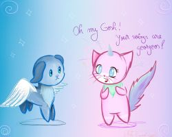 Princess Unikitty and Prince Pegapuppy by Ask-Emmet-Lego