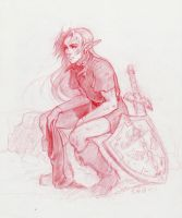 Weary -yet determined- Link by sherant