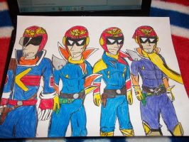 Captain Falcon evolution F-Zero by teamspike1