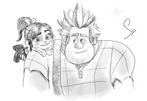 WRECK-IT RALPH quick skecth by SidMaster