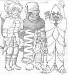 Trio Winter Gear - Game Concept Sketch by CameronNielsen