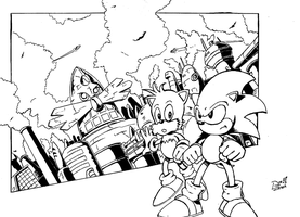 Mobius: Ruled by Robotnik - inks by DerZocker