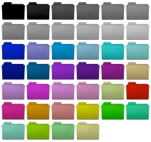 Colorful folder icons by Joonikko